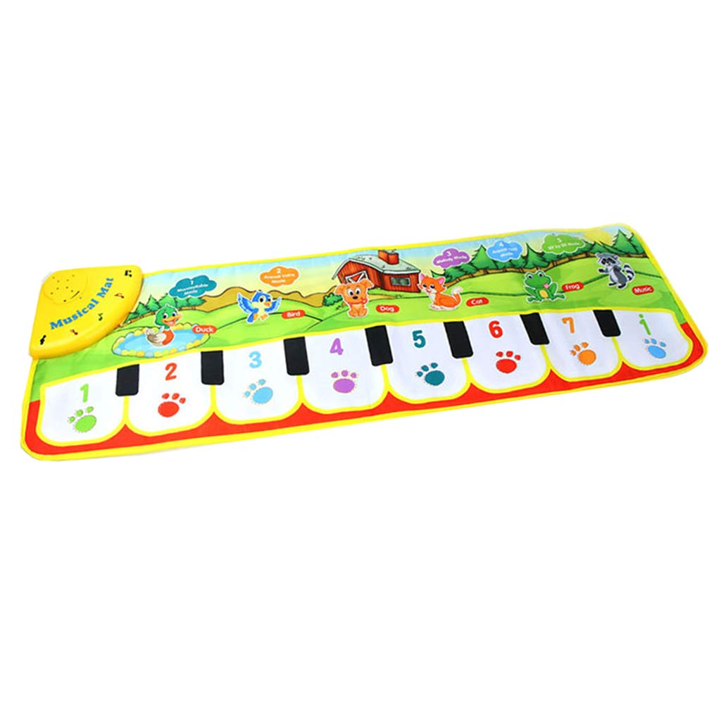 DYNWAVE Folding Musical Piano Mat 14 Keys Playmat Dancing Blanket Built-in Speaker Developmental Toy Gift for Kids Toddlers Boys & Girls (35.4x10.6 inch) by DYNWAVE (Image #1)