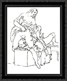 Cunnilingus, or oral sex performed on a woman 24x20 Black Ornate Wood Framed Canvas Art by Francesco Hayez