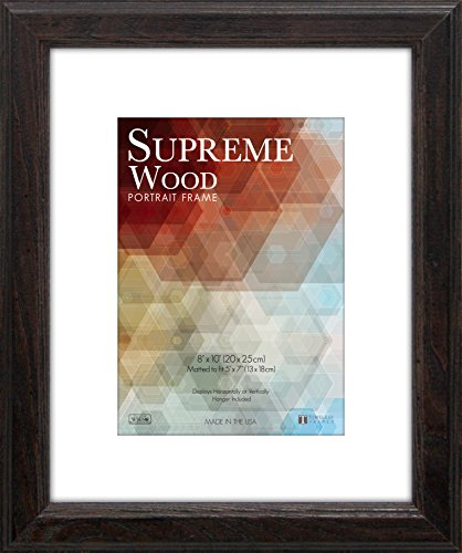 Timeless Frames 12x16 Inch Fits 9x12 Inch Photo Supreme Solid Wood Wall Frame, Espresso - 51082 - 12x16 inch frame matted to fit 9x12 inch picture Single white paper mat Product Height : 0.8 inches - picture-frames, bedroom-decor, bedroom - 51uXdRSTZ5L -