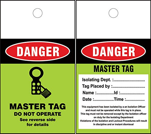 LOTO MASTER Tags (Set of 50 pcs) by LOTO