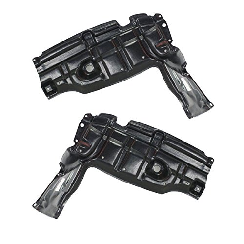 For 07-12 Yaris & xD Front Engine Splash Shield Under Cover Left Right SET PAIR Aftermarket Auto Parts