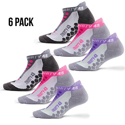 Thirty 48 Running Socks for Men and Women -CoolMax Fabric Keeps Feet Cool & - Hut Women