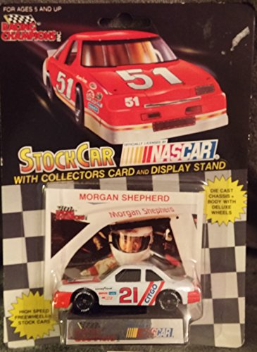 Brand New Collectible From 1991 Racing Champions 1/64 Die Cast #21 Morgan Shepherd Citgo - Stock Car w/ Collectors Card & Display Stand Officially Licensed By Nascar - Thrifty Car