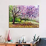 Boiee Art,24x36inch Hand Painted Cherry Blossom