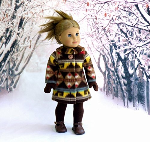 Winter Doll Coat with Socks and Mittens, fits 18 inch dolls such as American Girl, Our Generation