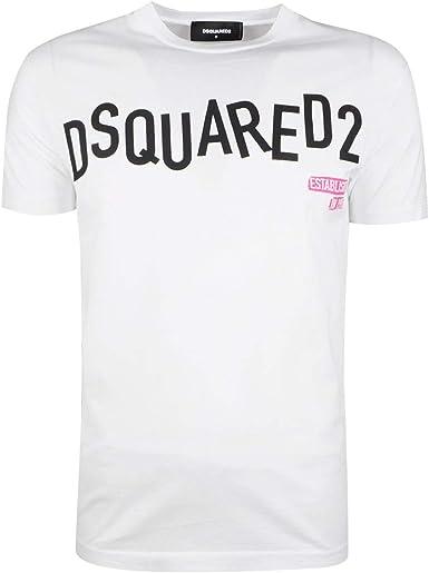 Dsquared2 Camiseta Hombre Bianco: Amazon.es: Ropa y accesorios