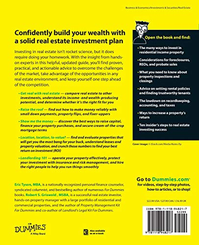 51uXfV6Md8L - Real Estate Investing For Dummies