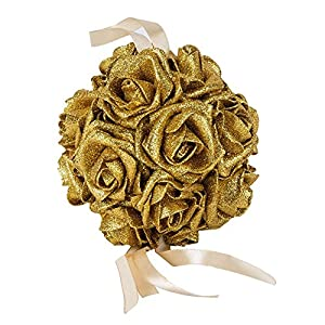 Beautiful Bridal Wedding Room Foam Artificial Flower Rose Ball Hanging Decor zbtrade 65