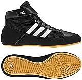 Adidas Men's Boy's HVC2 Wrestling Mat Shoe Ankle Strap (Black/White,...