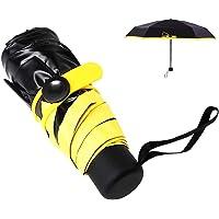 Mini Paraguas Ligero, Sol de Viaje portátil y Paraguas de Lluvia, Paraguas Compacto y Plegable con protección UV para…