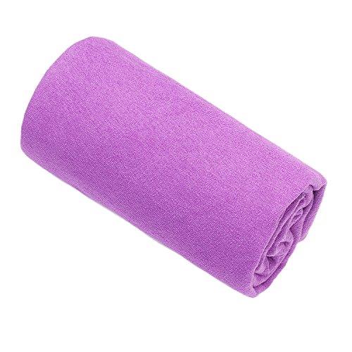 Dream SlimGosweat Hot Yoga Towel- Super Absorbent, 100% Microfiber, Anti-Slip, Suede, Best Bikram/HOT Yoga(Deep Purple) W436
