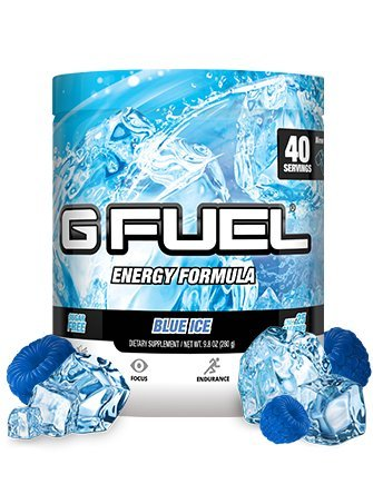 G Fuel Blue Ice Tub (40 Servings) Elite Energy and Endurance Formula Net Wt 9.8 ounce (Energy Drink Fuel)