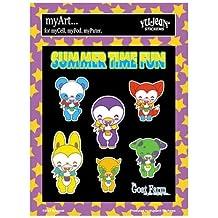 Krisgoat - Summer Time Fun Ice Cream Cone - Multi Pack of 7 Mini Stickers / Decals