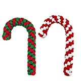 Candy Cane Rope Toy,Puppy Chew Dog Toys Interactive and Cotton Rope Toys and Christmas Decoration, Puppy Pet Play Chew and Training Toy for Medium&Large Dog Pet Teeth Cleaning