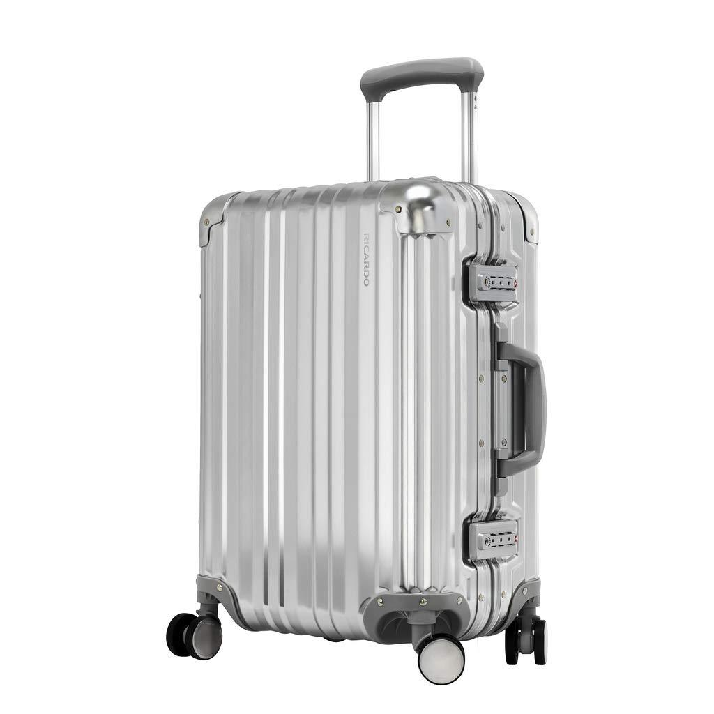 [リカルド]RICARDO Aileron 20-inch Spinner Suitcase スーツケース 40L 021-20-4WB B07BNX52MY Silver(040)
