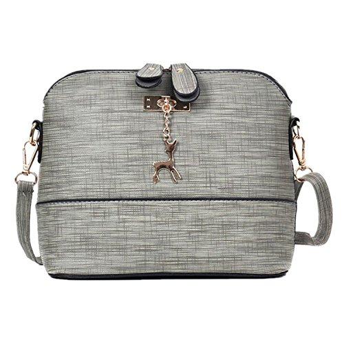 Body For Deer Shoulder ZOMUSA Shell Vintage Cross Mini Gray Fashion Bag Pendant Women qRnB0vR