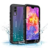 Mishcdea for Huawei P20 Waterproof Case Shockproof Snow-Proof Dirt-Proof Full Body Phone Protector