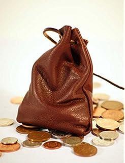 Medieval-Larp-SCA-Pagan-Reenactment BLACK Leather DRAWSTRING MONEY ...