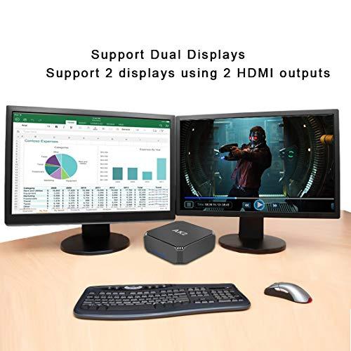 AK2 Mini PC,Intel Celeron J3455,Windows 10 Mini Computer,8GB RAM/120GB mSATA SSD,4K HD Graphics,Gigabit Ethernet,Dual Band Wi-Fi,Bluetooth 4.2