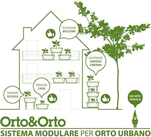 Maceta para huerto urbano con sistema modular combinable: Amazon ...