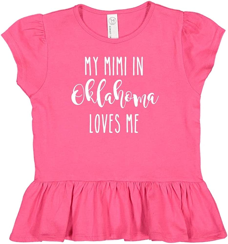 Toddler//Kids Ruffle T-Shirt My Mimi in Oklahoma Loves Me