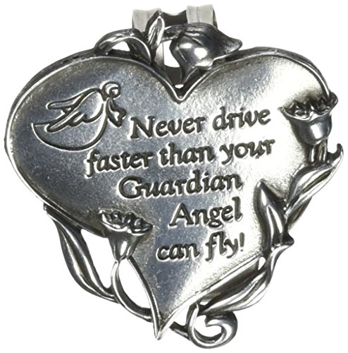 Cathedral Art KVC330 Heart Visor Clip, Never Drive Faster, 2-3/4-Inch (Drive Clip)