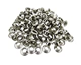 Amanaote 2.5mm Internal Hole Diameter Silvery Eyelets Grommets without Washers Self Backing Pack of 200
