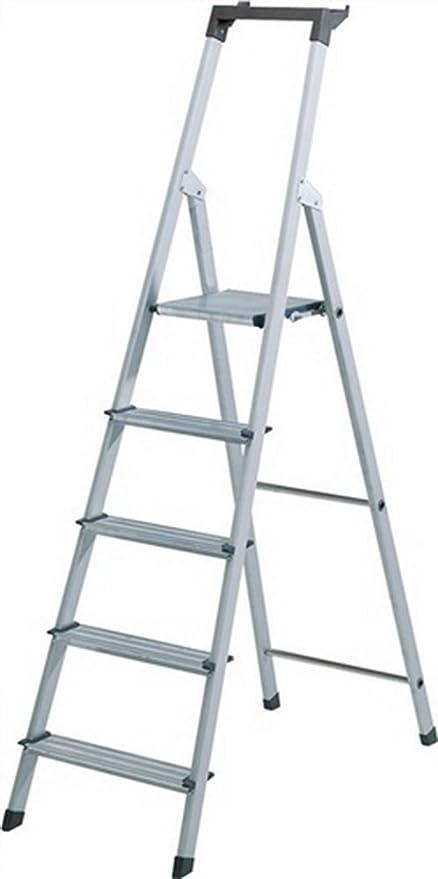 Hymer – Escalera aluminio. 4stufen 1seitig Plataforma de h.810 mm 3,3 kg Elox.Holme: Amazon.es: Bricolaje y herramientas