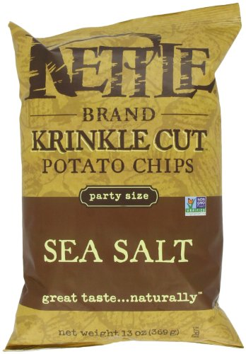 Kettle Brand Krinkle Cut Potato Chips, Lightly Salted, 13-ounces (Pack of 5) (Salt Chips Low Potato)
