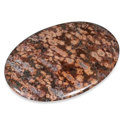 CrystalAge Leopard Skin Jasper Palm Stone