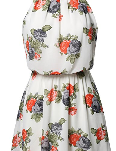Solid Printed Grey Ivory Baby Elasticized Princess Aawdrv0007 Awesome21 Doll Women's Dress Waistband 5EqPBn