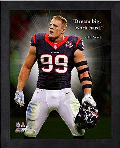 Amazon.com: J.J. Watt Houston Texans Dream Big NFL framed ...