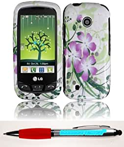 Accessory Factory(TM) Bundle (the item, 2in1 Stylus Point Pen) For LG Cosmos Touch VN270 Design Cover Case - Green Lily