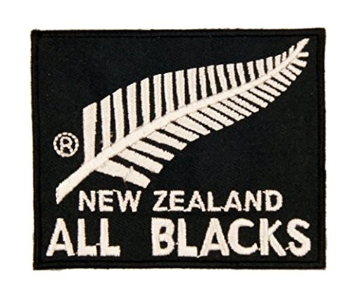 New Zealand Silver Fern Flag Embroidered Velcro Patch (BTDW) (Fern Patch)