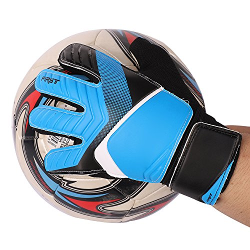 Leezo Kids Youth Soccer Gloves Supportive Wrist Straps Strong Grip Goalie...