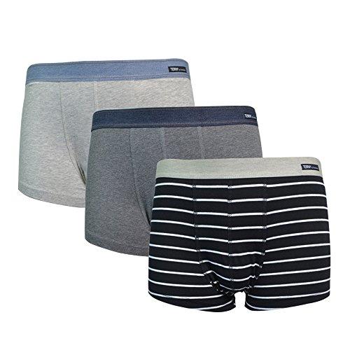 Terra Men's Underwear Low Rise Trunks 3 Pack Cotton Stretch Boxer Brief (Cotton Stretch Low Rise Brief)