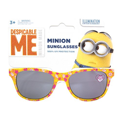 NBC Universal Despicable Me Kids Children Girls Sunglasses with 100% UV Protection Yellow and - Cooling Kids Glasses