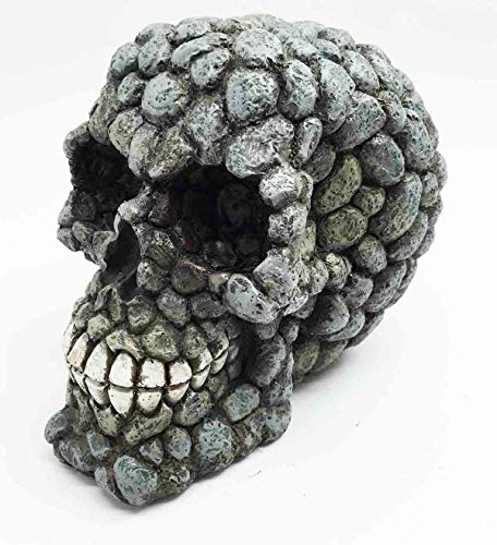 Figurine Asteroid Rock Pile Head Skull Dark Demon Evil Skeleton Halloween Decor]()