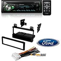 Pioneer CD Receiver with Improved Pioneer ARC App Compatibility, MIXTRAX, Built-in Bluetooth, and Color Customization W/ Mounting Kit-FMK550 for 1995-2011 Ford/Lincoln/Mazda/Mercury