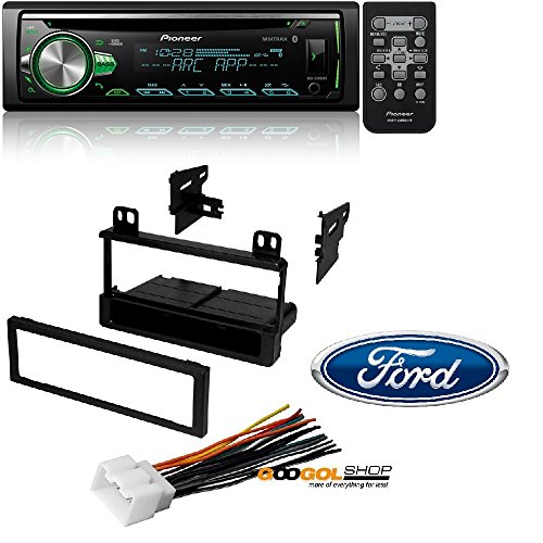 Pioneer CD Receiver with Improved Pioneer ARC App Compatibility, MIXTRAX, Built-in Bluetooth, and Color Customization W/ Mounting Kit-FMK550 for 1995-2011 Ford/Lincoln/Mazda/Mercury (Pioneer Card Stereo)