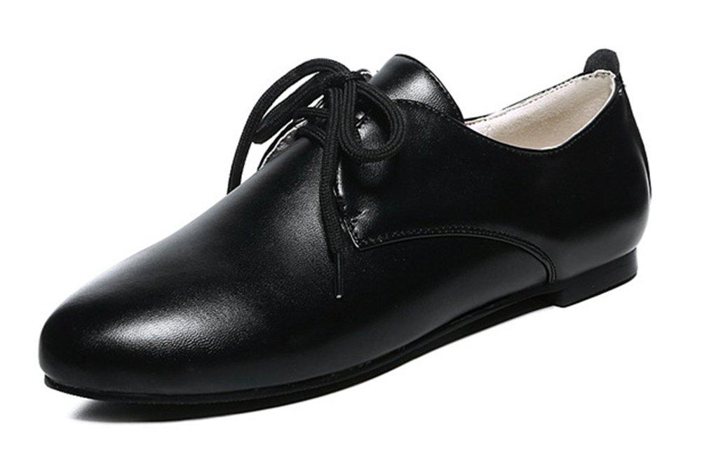 Easemax Femme Femme Mode 19298 Chaussures de Plates Ville à Lacets Plates Derbies Noir f49c6f7 - shopssong.space
