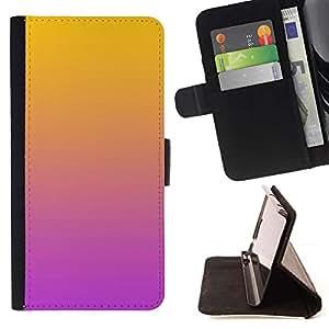 For Samsung Galaxy Core Prime / SM-G360 Case , Degradados de color Naranja Rosa Púrpura- la tarjeta de Crédito Slots PU Funda de cuero Monedero caso cubierta de piel