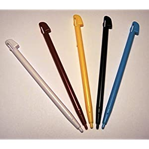 Stylus Pens for Nintendo Wii U Game Console Touch pen Set of 5 Color pens, with PrimeTime Key Chain