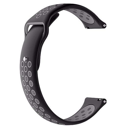 MYQyiyi Suave Cómodo Deportes Correa de Silicona de Reloj para Xiaomi Huami AMAZFIT 2/2S: Amazon.es: Relojes