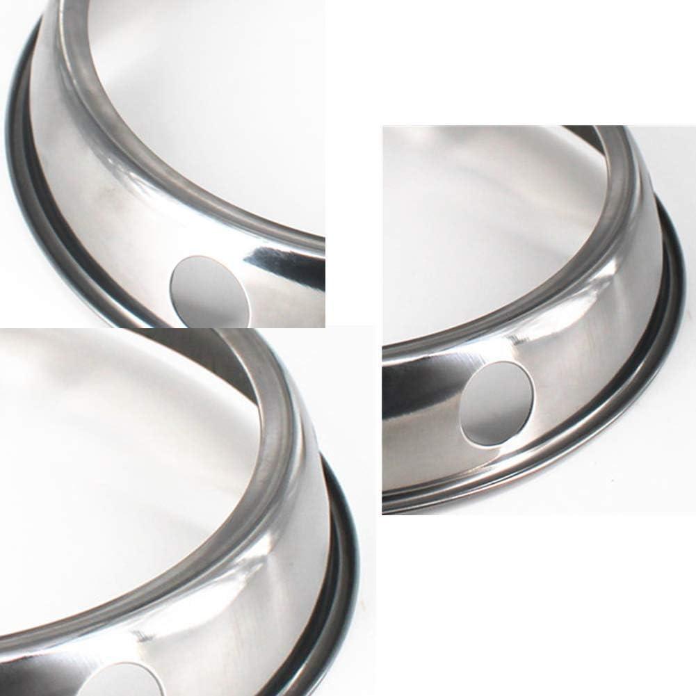 Estante para ollas WHK Anillo de Acero Inoxidable para Wok Soporte Redondo Reversible para sart/én 24cm Soporte Antideslizante para Estufa