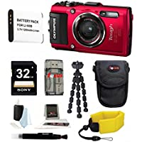 Olympus TG-4 16 MP Waterproof Digital Camera (Red) with Accessory Bundle Benefits Review Image
