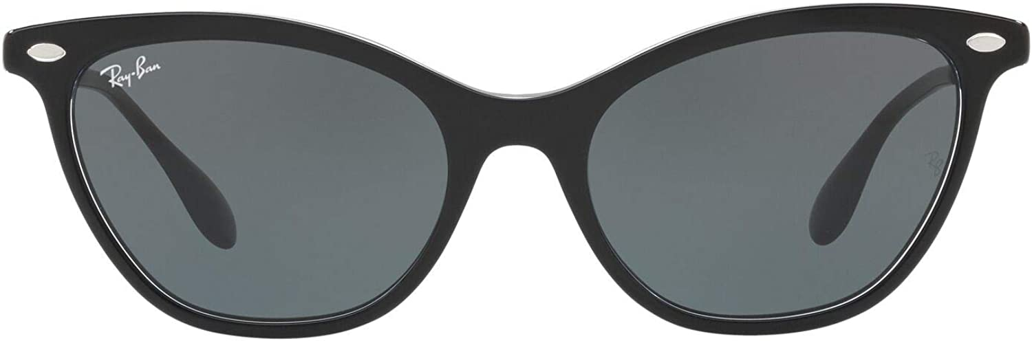 Ray-Ban 0Rb4360 Gafas de sol, Top Black on Trasparent, 54 para Mujer