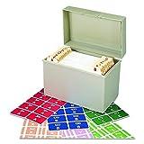 Smead 67170 Alpha-Z Color-Coded Second Letter Labels Starter Set, A-Z (Box of 2200)