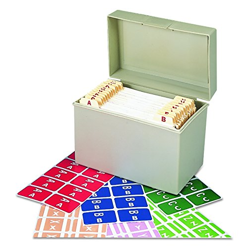 Smead 67170 Alpha-Z Color-Coded Second Letter Labels Starter Set, A-Z (Box of 2200)