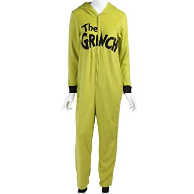 dr seuss how the grinch stole christmas costume hooded womens unionsuit large